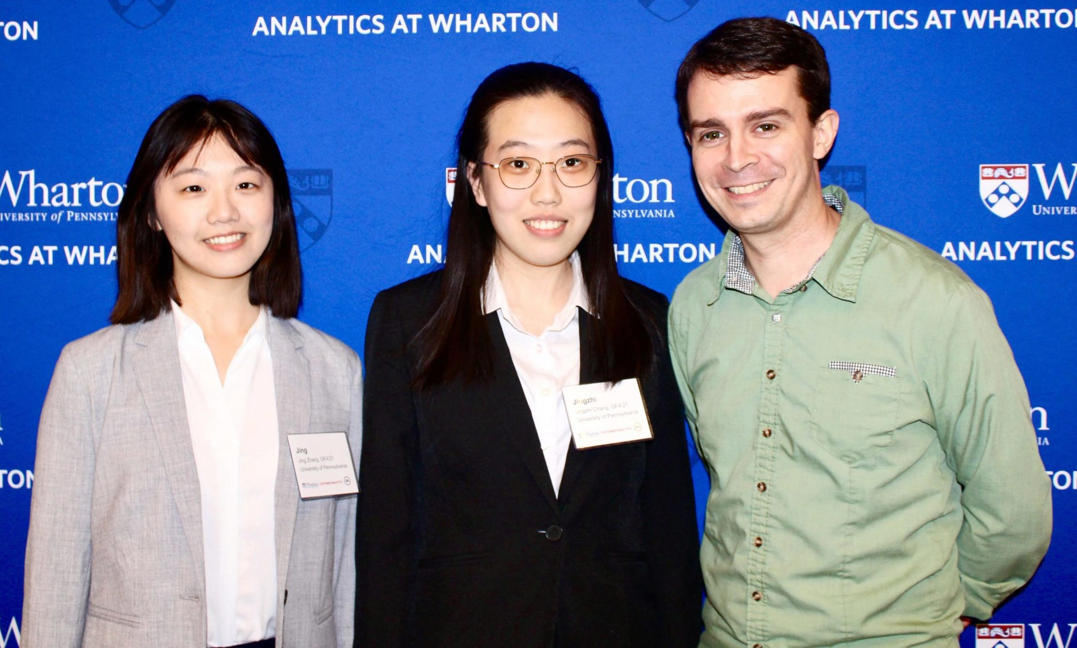 Weitzman students Jing Zhang and Jingzhi Chang with Ben Medler, Principal Data Scientist at Electronic Arts